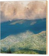 Blue Ridge Parkway Scenic Mountains Overlook Summer Landscape Wood Print