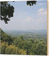 Blue Ridge Parkway Scenic View Wood Print