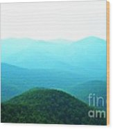 Blue Ridge Scene Wood Print