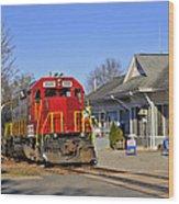 Blue Ridge Scenic Railway Wood Print