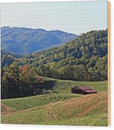 Blue Ridge Scenic Wood Print by Suzanne Gaff