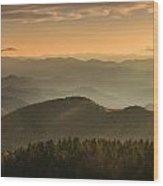Righteously - Blue Ridge Sunrise Wood Print