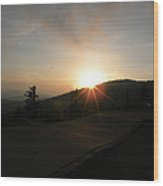 Blue Ridge Sunset - Going Down Wood Print