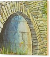 Blue Ridge Tunnel Wood Print