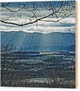 Blue Ridge Winter Solstice 2012 Wood Print
