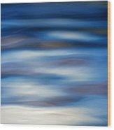 Blue Ripple Wood Print