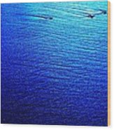 Blue Sand Abstract Wood Print