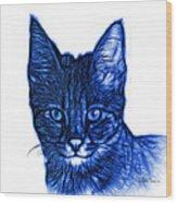 Blue Savannah Cat - 5462 F S Wood Print