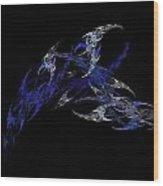 Blue Scorian Wood Print