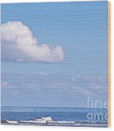 Blue Sea Wood Print by Angela Doelling AD DESIGN Photo and PhotoArt