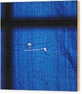 Blue Shade Wood Print