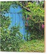 Blue Shed II Wood Print