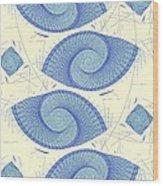 Blue Shells Wood Print