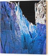 Blue Shivers Wood Print