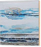 Blue Shore Rhythms And Textures IIi Wood Print