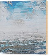 Blue Shore Rhythms And Texturesii Wood Print
