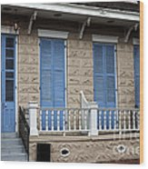 Blue Shutters On Toulouse Wood Print