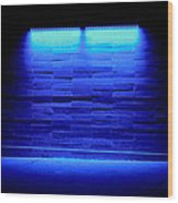 Blue Sidewalk Wood Print