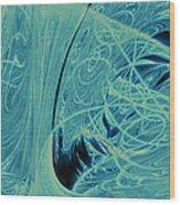 Blue Silk Thread No. 2 Wood Print