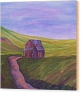 Blue Skies In The Hill Country Wood Print