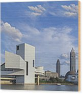 Blue Skies Over Cleveland Wood Print