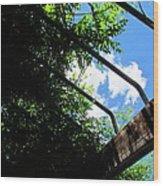 Blue Skies Over Yonder Wood Print