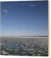 Blue Sky Above The Ice 2  Wood Print