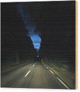 Blue Sky At Night Wood Print