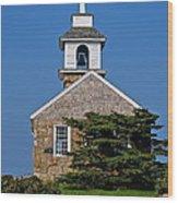 Blue Sky Chapel Wood Print