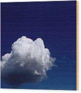 Blue Sky Cloud Wood Print