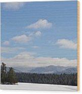 Blue Sky Day In The Adirondacks Wood Print