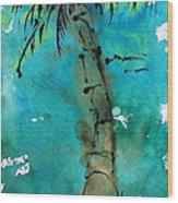 Blue Sky Palm Wood Print