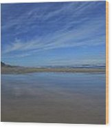 Blue Sky Reflections Wood Print