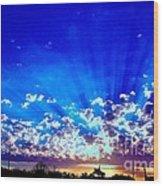 Blue Sky Shine Wood Print