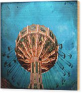 Blue Sky Swings Wood Print