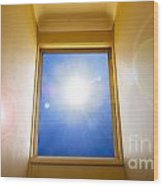 Blue Sky Window Wood Print