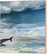 Blue Sky Wing Wood Print