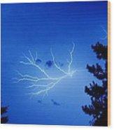 Blue Skylight Wood Print by Diane Reed