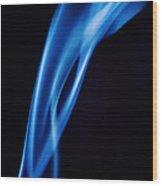 Blue Smoke  Abstract  Wood Print
