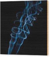 Blue Smoke Wood Print
