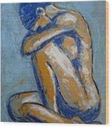 Blue Soul - Female Nude Wood Print