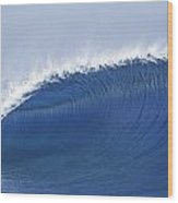 Blue Spinner Wood Print by Sean Davey