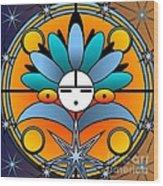 Blue Star Kachina 2012 Wood Print