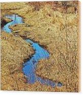 Blue Stream Wood Print