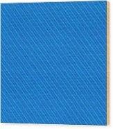 Blue Striped Diagonal Textile Background Wood Print