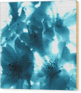 Blue Sunlight Fusion Wood Print