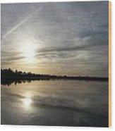 Blue Sunset Wood Print