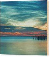 Blue Sunset Wood Print by Christopher Blake