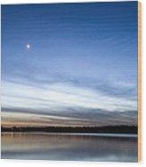 Grapevine Lake Blue Sunset Wood Print