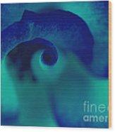 Blue Swirl Wood Print
